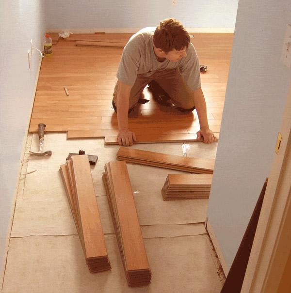 Пол из ламината своими руками на деревянный